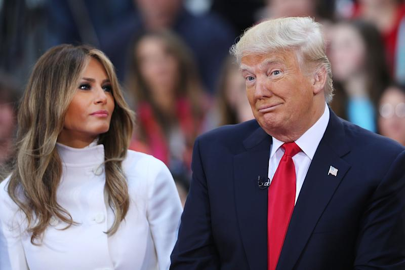 The book claims Trump doesn't factor Melania into decisions, and Melania leads her own life. Photo: Getty Images