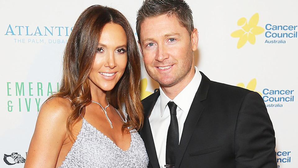 Kyly and Michael Clarke, pictured here at a Cancer Council Gala Ball in 2015.