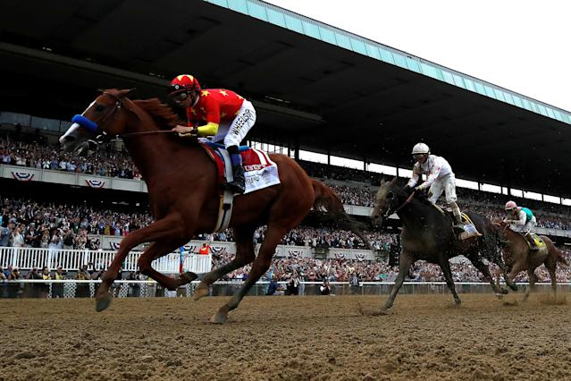 Horse racing at New York tracks like Belmont Park is facing similar scrutiny to Santa Anita after a report of a spate of deaths across the state. (Getty)