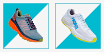 """<p>The greatest treasure hunt for a runner is the sidewalk sale at your local running shop. The ultimate prize: last year's model of your favorite shoe, in your size, at a steep discount. Lucky for you, Hoka's <a href=""""https://www.hokaoneone.com/sale/?start=0&sz=36"""" rel=""""nofollow noopener"""" target=""""_blank"""" data-ylk=""""slk:bringing the sidewalk sale to your keyboard"""" class=""""link rapid-noclick-resp"""">bringing the sidewalk sale to your keyboard</a>. It's offering some outstanding markdowns on classic models including its carbon fiber-plated racer, the Carbon X, and the ultra-plush Bondi 6.</p><p>Check out the full list of discounted running shoes below. But act fast because, while Hoka has good stock of these models now, they won't last long.</p>"""