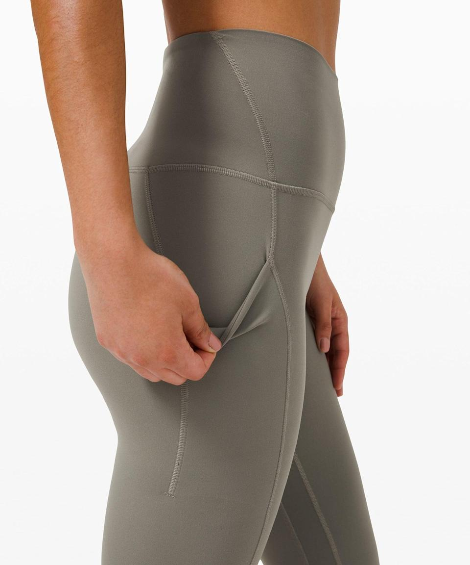 "<p>The side pockets on these <span>Lululemon Align High Rise Pant with Pockets 25""</span> ($128) are so useful.</p>"