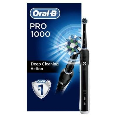 <p><span>Oral-B Pro Crossaction 1000 Rechargeable Electric Toothbrush</span> ($30, originally $50)</p>