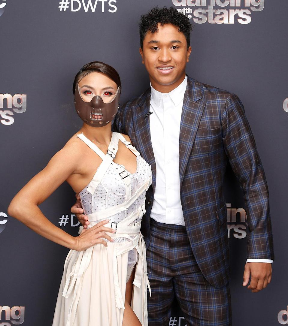 "<p>Mai dressed in a costume inspired by <em>Silence of the Lambs </em>and Hannibal Lector, dancing a Paso Doble to Nelly Furtado's ""Maneater."" </p>"