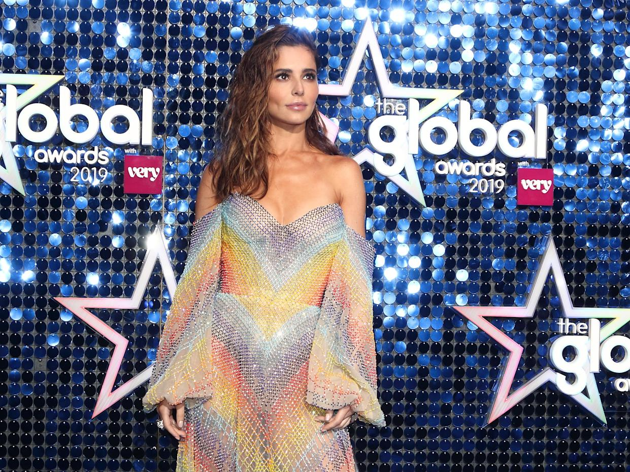 Cheryl Tweedy on the blue carpet at The Global Awards at the Eventim Apollo, Hammersmith. (Photo by Keith Mayhew / SOPA Images/Sipa USA)