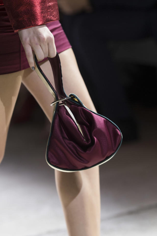 <p><i>Maroon mini-bag from the SS18 Topshop collection. (Photo: ImaxTree) </i></p>