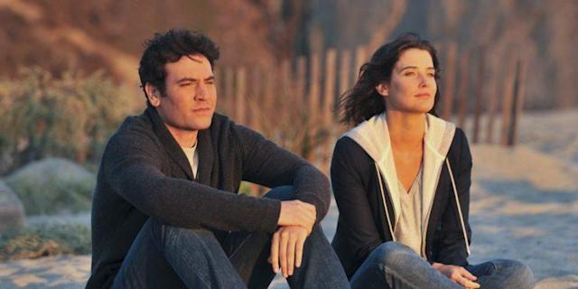 Ted and Robin thinking about all the years they wasted not being together.