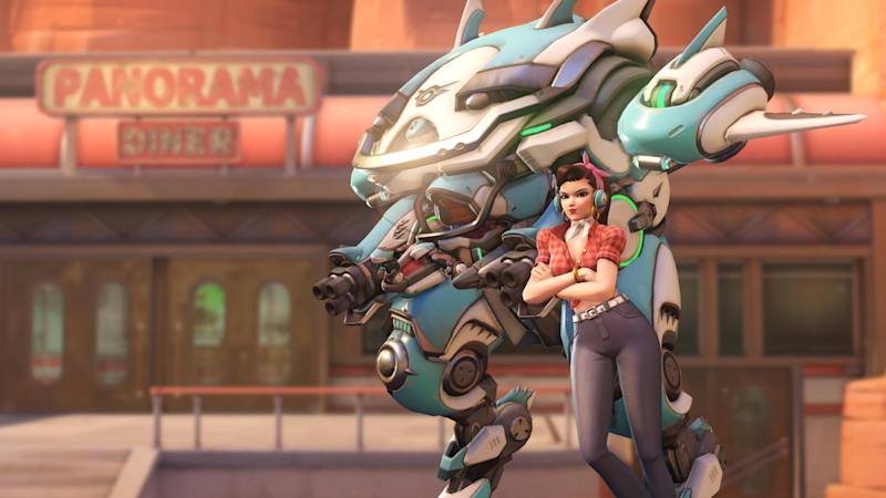 The new D.Va skin for the Overwatch Anniversary event. (Blizzard)