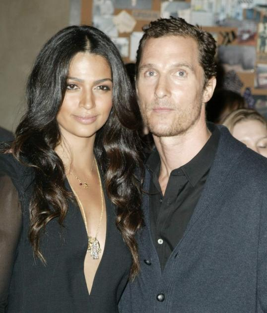 Camila Alves and Matthew McConaughey attend the Noir Boutique inauguration at Noir Boutique  in Sao Paulo, Brazil, on April 10, 2012 -- Getty Images