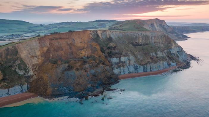 The 4,000-ton rockfall at Seatown has blocked off the beach between Seatown and Eype Beach, part of the historic Jurassic Coast. The cliff fall is thought to be the biggest in 60 years.(Getty)