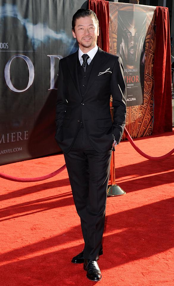 "<a href=""http://movies.yahoo.com/movie/contributor/1800359124"">Tadanobu Asano</a> attends the Los Angeles premiere of <a href=""http://movies.yahoo.com/movie/1810026342/info"">Thor</a> on May 2, 2011."
