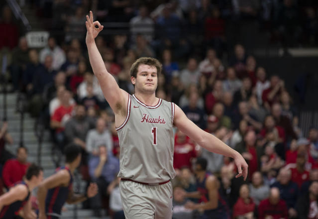 Thanks to a wild buzzer-beater, and quite a bit of luck, Ryan Daly sent St. Joseph's into overtime on Saturday afternoon. (AP/Laurence Kesterson)