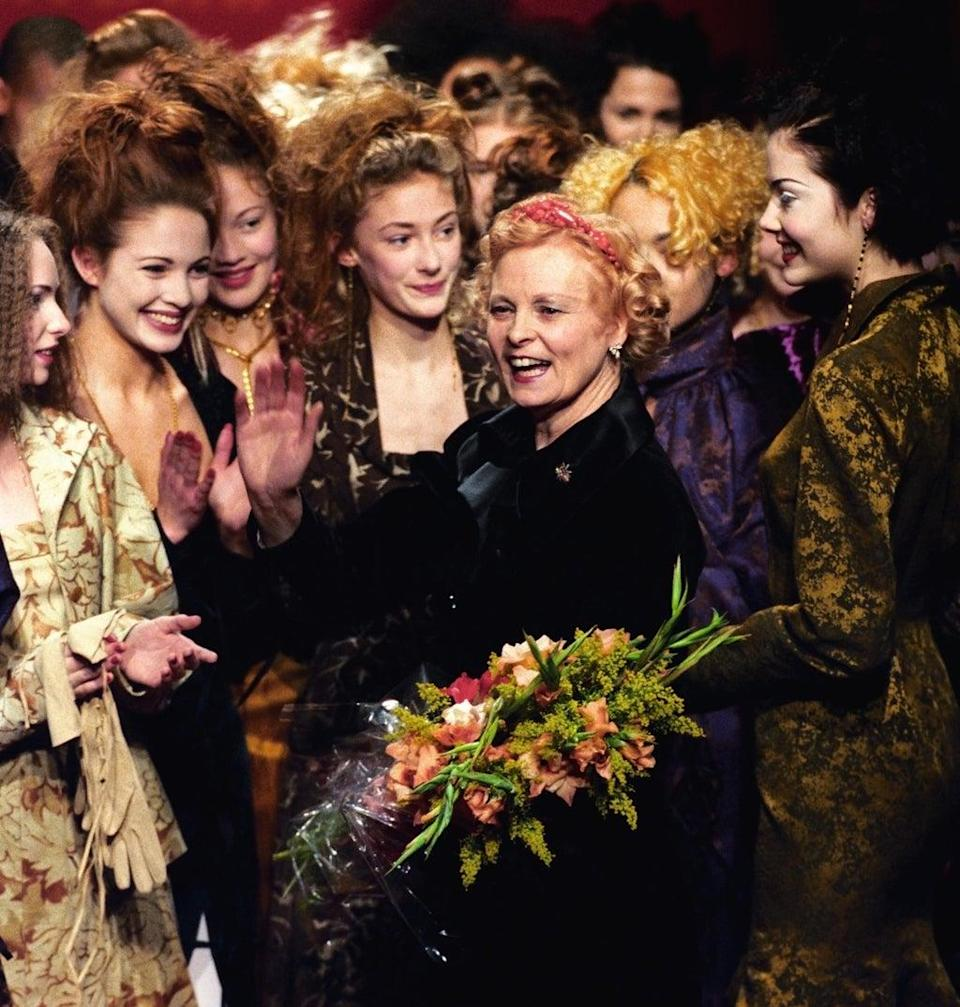 Vivienne Westwood at London Fashion Week in 1997 (PA Archive/PA Images)
