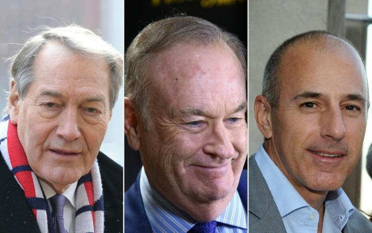 TV stars Charlie Rose, Bill O'Reilly and Matt Lauer (left to right) were all felled by sexual harassment scandals
