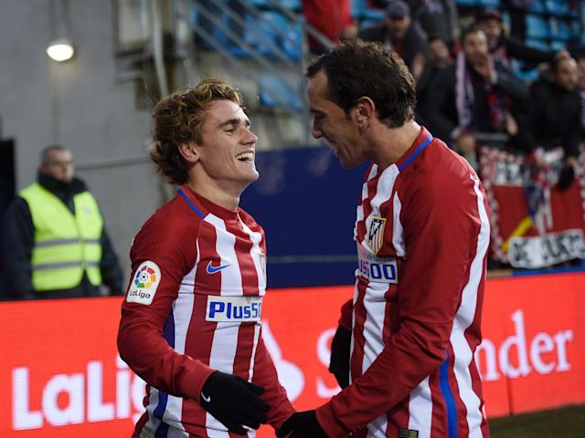 Griezmann says he is in no rush to leave the Vicente Calderón: Getty