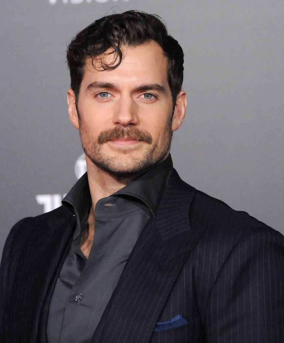 <p>Who says the man portraying Superman can't wear a mustache?</p>