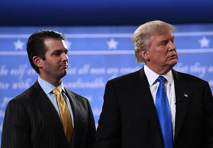 It would be the first public testimony on the Russia affair by a member of President Donald Trump's inner circle, and by no less a figure than his eldest son, the co-director of the family business (AFP Photo/Jewel SAMAD)