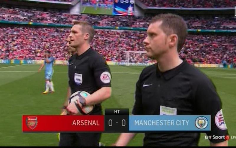 HT 0-0 Arsenal City - Credit: BT Sport