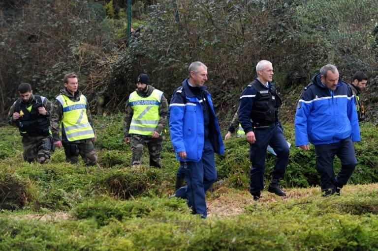 French Gendarmes take part in search operations looking for the Troadec family, missing since February 16