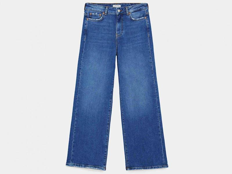 Jeans New Straight Culotte Malibu Blue, £29.99, Zara