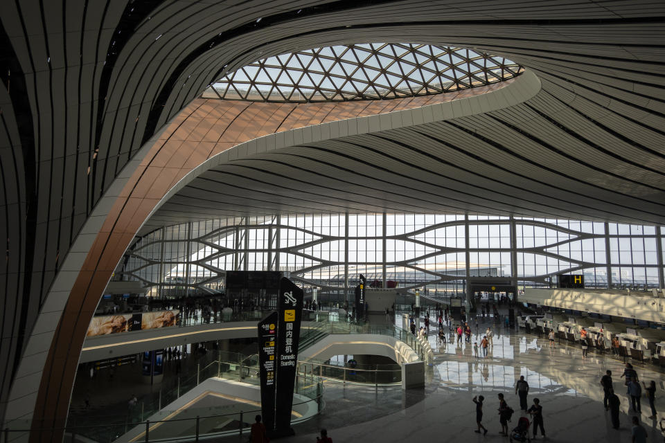 Beijing Daxing International Airport, officially began to operate on September 25th. (Photo by Zhang Peng/LightRocket via Getty Images)