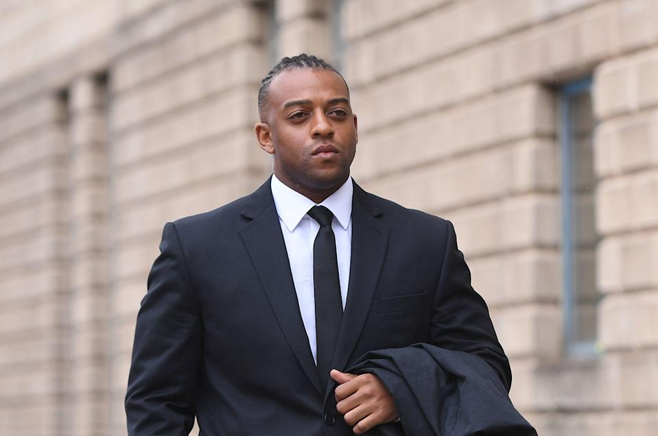 Former JLS singer Oritse Williams arrives at Wolverhampton Crown Court where he is accused of rape. Williams, 32, from Croydon, south London, denies raping the woman in a hotel room following a solo concert in December 2016.