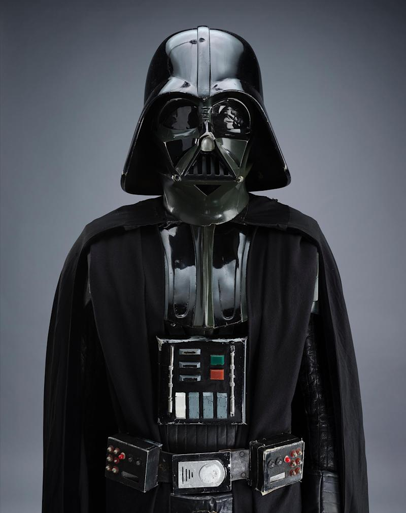 The legendary Darth Vader promo tour costume will be up for grabs (Prop Store:)