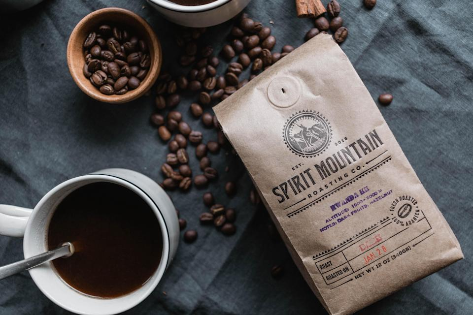 """<h2>Spirit Mountain Roasting Co.</h2><br><strong>Founder</strong>: Tudor Montague<br><br>Tudor Montague intertwines his passion for the craft of roasting and coffee into Spirit Mountain Roasting Co. Since 2015, this company has prioritized freshness, quality, and community — each sustainable and fair trade bag supports indigenous non-profit organizations and is made with intention. <br><br>""""Our community includes not only the pipa, people of the Quechan Nation, it includes the entire coffee supply chain from seed to cup. We do our part by engaging in direct and fair trade with indigenous coffee farmers whenever possible...We support these communities by working with suppliers that align with our values. We select coffees which are produced sustainably (organic), exchanged fairly (fair trade), handled correctly (roasted with care), and (we hope) enjoyed thoroughly.""""<br><br><em>Shop</em> <strong><em><a href=""""https://www.spiritmountainroasting.com/"""" rel=""""nofollow noopener"""" target=""""_blank"""" data-ylk=""""slk:Spirit Mountain Roasting Co."""" class=""""link rapid-noclick-resp"""">Spirit Mountain Roasting Co.</a></em></strong>"""