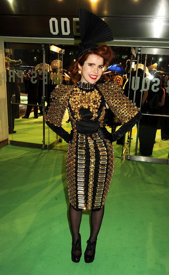 "Paloma Faith at the London premiere of <a href=""http://movies.yahoo.com/movie/1810078365/info"">Alice in Wonderland</a> - 02/25/2010"
