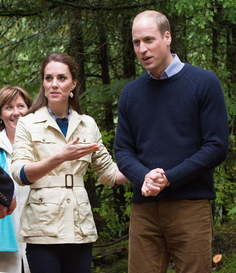 New footage has emerged of Kate and Wills' trip to Canada in 2016. Photo: Getty