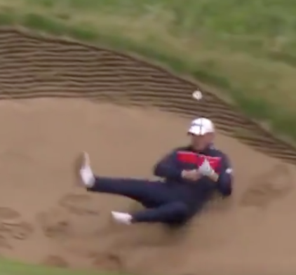 British Open 2019: Try not to laugh at this tour pro falling on his butt in a bunker