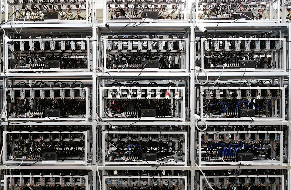 Bitcoin mining computer servers are seen in Bitminer Factory in Florence, Italy, April 6, 2018. Picture taken April 6, 2018. REUTERS/Alessandro Bianchi