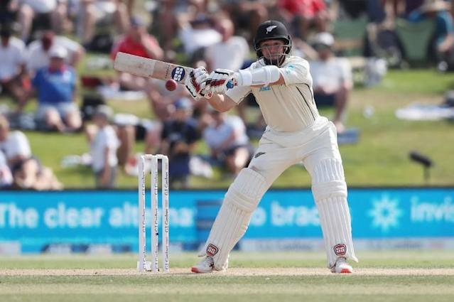 The 34-year-old Watling toiled under a blazing sun for almost seven hours to rescue New Zealand from a precarious situation and notch his eighth Test century (AFP Photo/MICHAEL BRADLEY)
