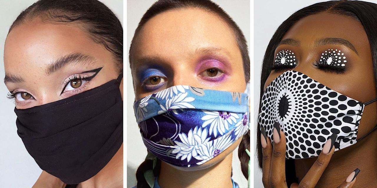 """<p>It's 2020. We're masking and we're matching. Take one scroll through Instagram or the hashtag <a href=""""https://www.instagram.com/explore/tags/maskmakeup/"""" target=""""_blank"""">#maskmakeup</a> and you'll see beauty pros and novices alike wearing a mask (thank you!) and donning a coordinating eye look. We've matched our  bra and underwear, we've matched <a href=""""https://www.elle.com/beauty/a30613164/matching-makeup-nails-beauty-trend/"""" target=""""_blank"""">our nails and our lipstick</a>, and now it's time to match our masks and our makeup. </p><p>To find out exactly how it's done, we tapped <a href=""""https://www.instagram.com/erinparsonsmakeup/"""" target=""""_blank"""">Erin Parsons</a>, Maybelline Global Makeup Artist and celebrity makeup artist to Gigi Hadid and Josephine Skriver, to share the best tips and tricks for coordination. """"Start playing with this idea by using a softer-toned mask,"""" Parsons says. """"As you become more comfortable, then go for a brighter or more unique tone, and play with the eyes as a contrast that complements. For instance, a burnt orange mask would look gorgeous with royal blue eyeshadow."""" (Parsons' current favorite is <a href=""""https://www.amazon.com/Maybelline-Coverage-Pigments-Crease-Resistant-Smudge-Resistant/dp/B085S9RQBL"""" target=""""_blank"""">Maybelline's Color Strike in Ace</a>!)</p><p>Below, take some inspiration from 10 different masked and matching beauty looks to live your best socially distanced life.  </p>"""