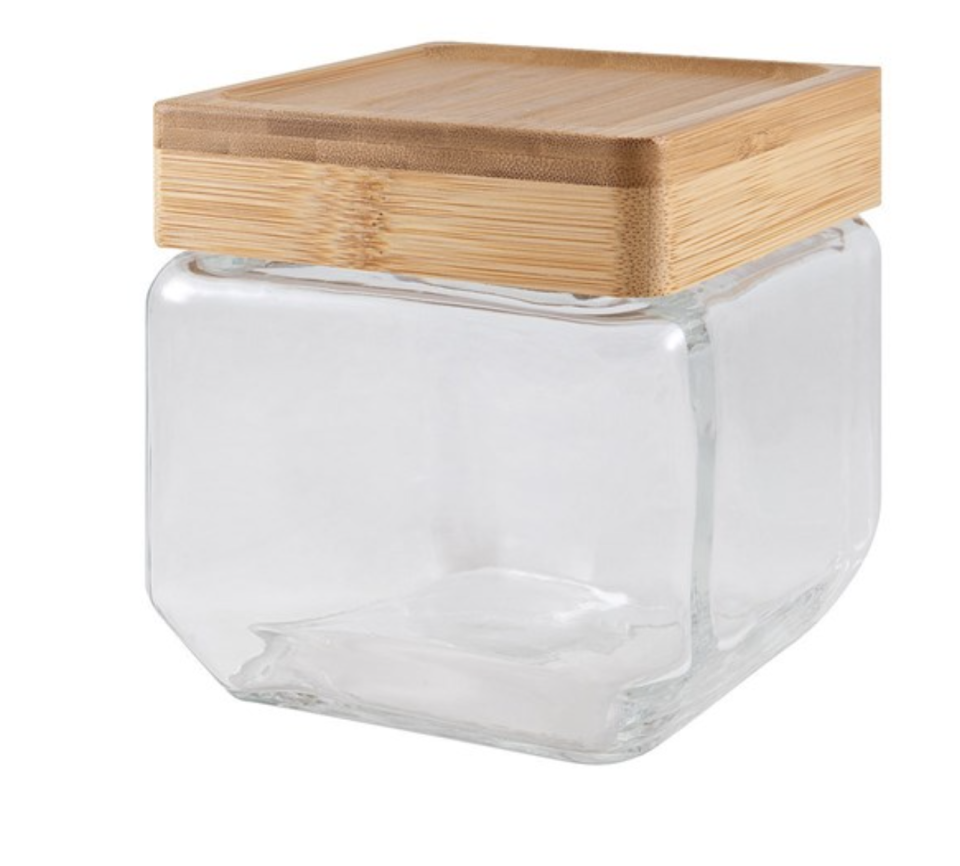 Scullery Bamboo & Glass Canisters come in a range of shapes and sizes