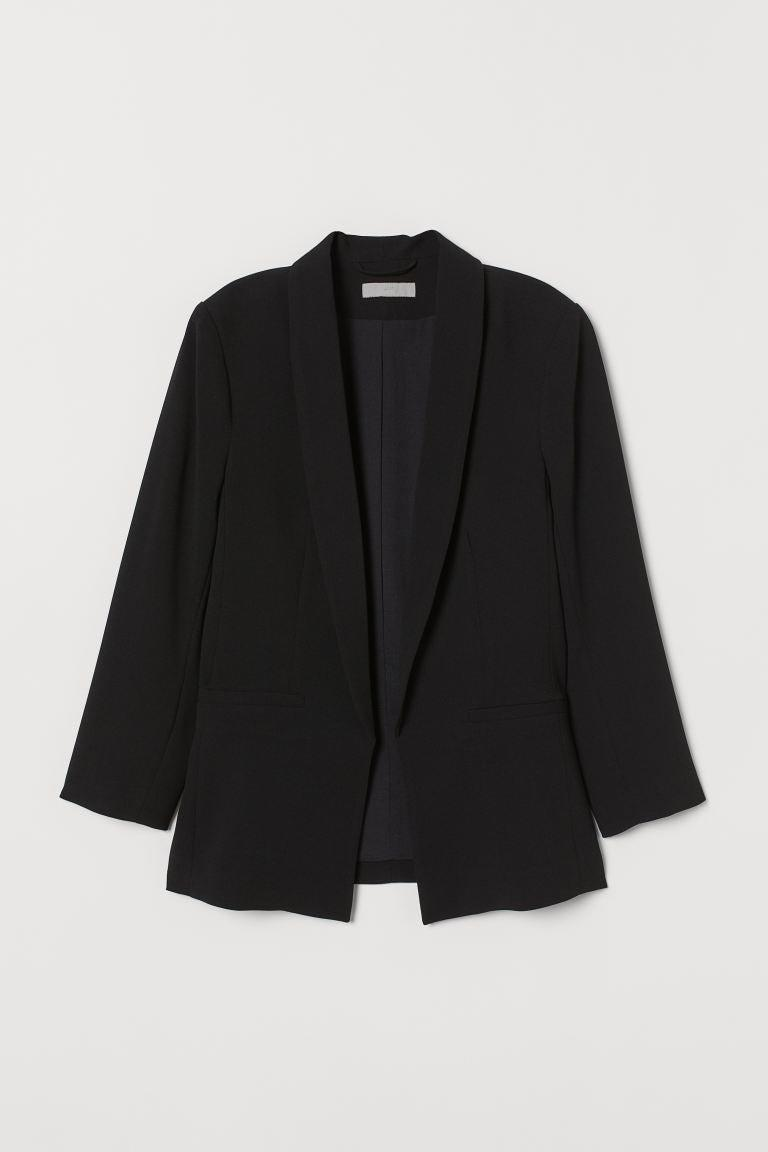 "<br><br><strong>H&M</strong> Straight-Cut Jacket, $, available at <a href=""https://www2.hm.com/en_gb/productpage.0728156006.html"" rel=""nofollow noopener"" target=""_blank"" data-ylk=""slk:H&M"" class=""link rapid-noclick-resp"">H&M</a>"