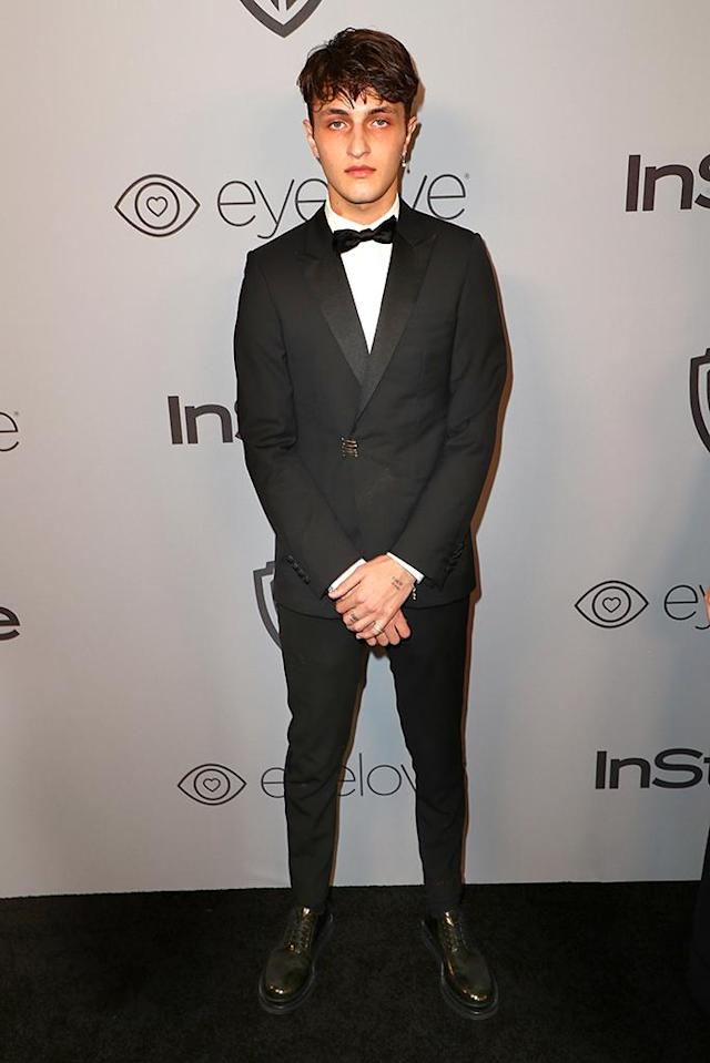 <p>Model Anwar Hadid attends the InStyle and Warner Bros. party. (Photo: Joe Scarnici/Getty Images for InStyle) </p>