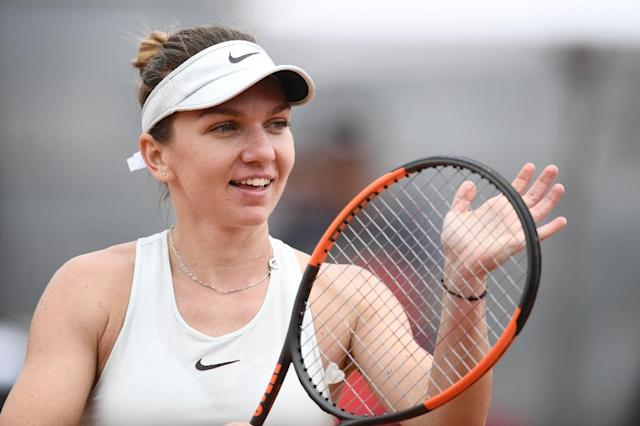 Romania's Simona Halep, pictured on May 16, 2018, is on her way to holding her top ranking (AFP Photo/Filippo MONTEFORTE)