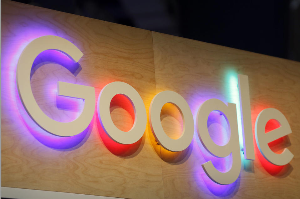 PARIS, FRANCE - MAY 24: A Google logo is displayed during the Viva Technologie show at Parc des Expositions Porte de Versailles on May 24, 2018 in Paris, France. Viva Technology, the new international event brings together 5,000 startups with top investors, companies to grow businesses and all players in the digital transformation who shape the future of the internet. (Photo by Chesnot/Getty Images)
