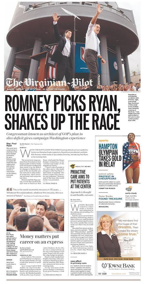 The Virginian-Pilot, Aug. 12, 2012
