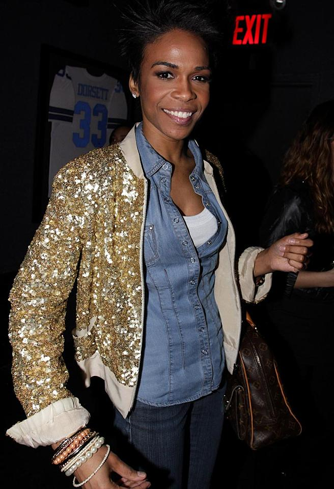 "Former Destiny's Child singer Michelle Williams -- who is currently starring in ""Chicago"" on Broadway -- also showed up for the shindig wearing a rather casual denim ensemble. A tacky bedazzled gold jacket and excessive amount of bracelets completed her look. Johnny Nunez/<a href=""http://www.wireimage.com"" target=""new"">WireImage.com</a> - March 2, 2010"