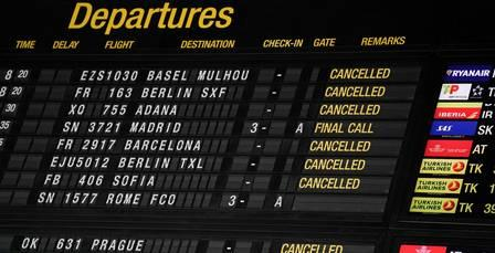 88480902_View of a signboard showing cancelled flights at the departures area of Brussels Airpor.jpg