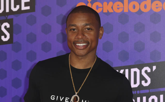 "<a class=""link rapid-noclick-resp"" href=""/nba/players/4942/"" data-ylk=""slk:Isaiah Thomas"">Isaiah Thomas</a> arrives at the Kids' Choice Sports Awards in July. (AP)"