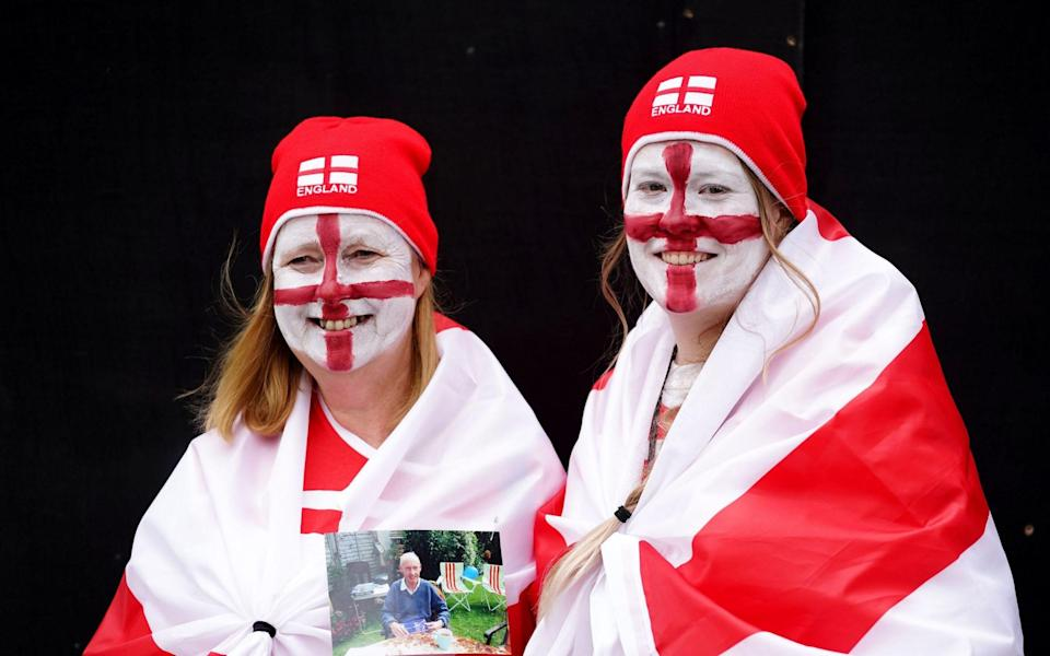 England fans rocking their St George apparel - PA