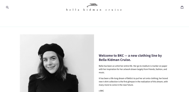 Bella Kidman Cruise has launched BKC — a new clothing line. (Image: Bella Kidman Cruise)