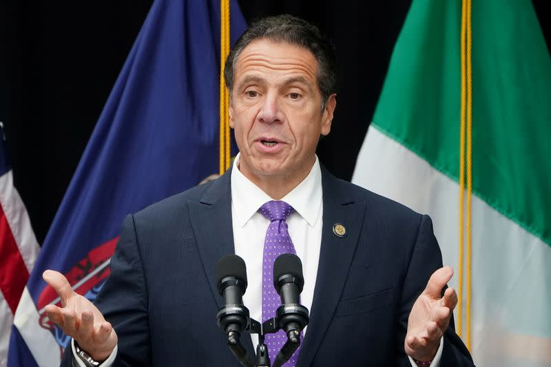 FILE PHOTO: Governor of New York Andrew Cuomo speaks