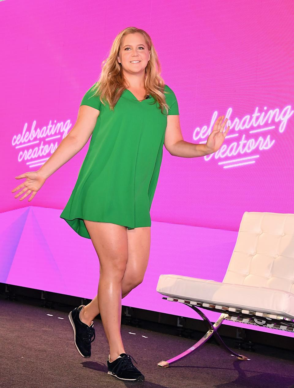 Amy Schumer revealed on Instagram that she and husband Chris Fischer successfully have one embryo following a round of IVF. (Photo: ANGELA WEISS/AFP via Getty Images)