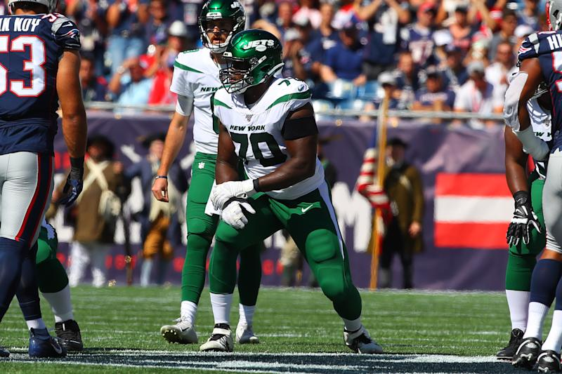 The saga between Kelechi Osemele and the Jets is taking a new turn. (Photo by Rich Graessle/Icon Sportswire via Getty Images)