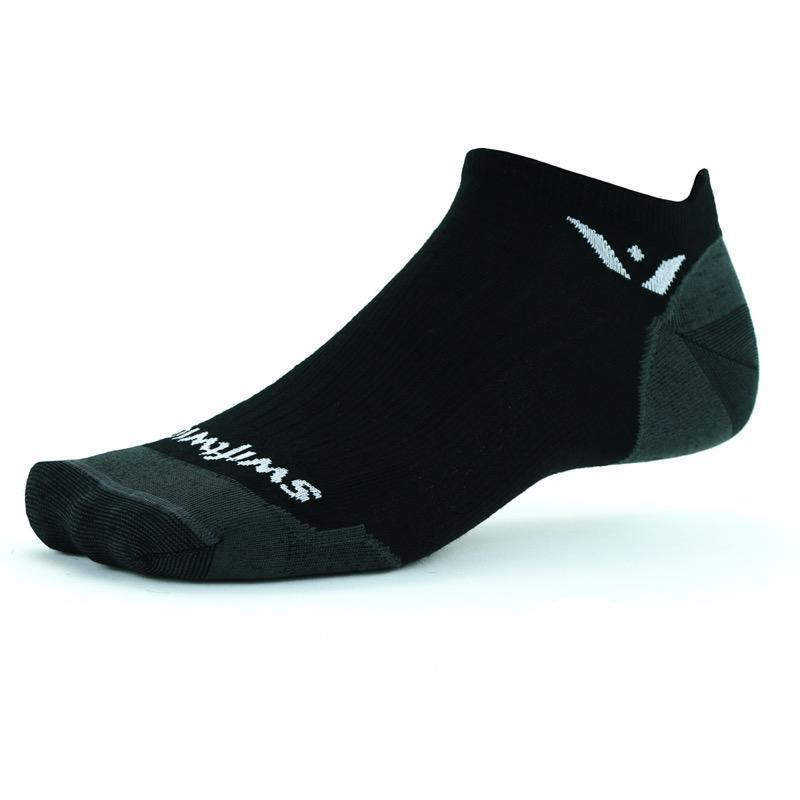 """<h3>Swiftwick Pursuit Zero Ultralight Socks</h3><br><br>""""The <a href=""""https://www.refinery29.com/en-us/2020/08/9962646/brother-vellies-keds-when-we-all-vote-socks-sneakers"""" rel=""""nofollow noopener"""" target=""""_blank"""" data-ylk=""""slk:perfect pair of socks"""" class=""""link rapid-noclick-resp"""">perfect pair of socks</a> is one of those things — you don't quite realize how important they are until you're wearing a really crummy pair, or a really fantastic pair. These are the latter. They are the perfect medium-weight thickness, the perfect height (they claim to have a no-show cuff, but it sits just where I like it — above the ankle of my sneakers), the perfect material (49% merino wool, my love). When all my pairs are in the wash, I fully sulk about it."""" <em>— MZ</em><br><br><strong>Swiftwick</strong> PURSUIT Zero Ultralight, $, available at <a href=""""https://go.skimresources.com/?id=30283X879131&url=https%3A%2F%2Fswiftwick.com%2Fproducts%2Fpursuit-zero-ultralight"""" rel=""""nofollow noopener"""" target=""""_blank"""" data-ylk=""""slk:Swiftwick"""" class=""""link rapid-noclick-resp"""">Swiftwick</a>"""