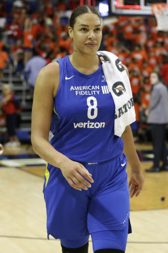 cambage scores wnba record 53 points for wings over liberty