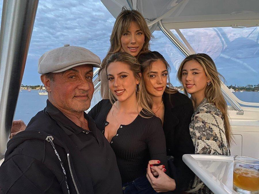 Sylvester Stallone and his daughters